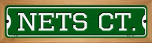 Nets Ct Wholesale Novelty Wood Mounted Small Metal Street Sign WB-K-1023