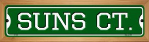 Suns Ct Wholesale Novelty Wood Mounted Small Metal Street Sign WB-K-1029