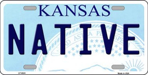 Native Kansas Novelty Wholesale Metal License Plate LP-6624