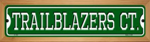 Trailblazers Ct Wholesale Novelty Wood Mounted Small Metal Street Sign WB-K-1030