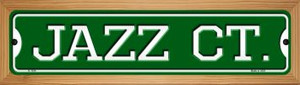 Jazz Ct Wholesale Novelty Wood Mounted Small Metal Street Sign WB-K-1034