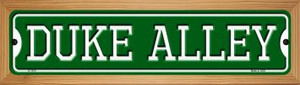 Duke Alley Wholesale Novelty Wood Mounted Small Metal Street Sign WB-K-1070