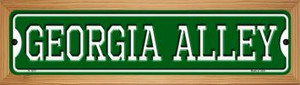 Georgia Alley Wholesale Novelty Wood Mounted Small Metal Street Sign WB-K-1073