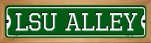 LSU Alley Wholesale Novelty Wood Mounted Small Metal Street Sign WB-K-1078