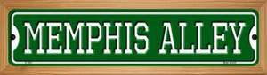 Memphis Alley Wholesale Novelty Wood Mounted Small Metal Street Sign WB-K-1080
