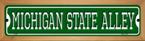 Michigan State Alley Wholesale Novelty Wood Mounted Small Metal Street Sign WB-K-1082