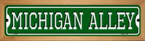 Michigan Alley Wholesale Novelty Wood Mounted Small Metal Street Sign WB-K-1083