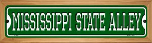 Mississippi State Alley Wholesale Novelty Wood Mounted Small Metal Street Sign WB-K-1085