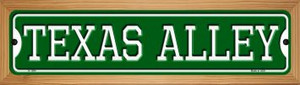 Texas Alley Wholesale Novelty Wood Mounted Small Metal Street Sign WB-K-1094