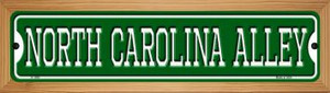 North Carolina Alley Wholesale Novelty Wood Mounted Small Metal Street Sign WB-K-1096