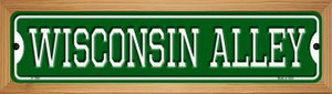 Wisconsin Alley Wholesale Novelty Wood Mounted Small Metal Street Sign WB-K-1098