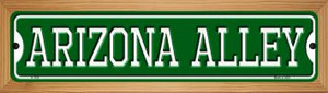 Arizona Alley Wholesale Novelty Wood Mounted Small Metal Street Sign WB-K-1100