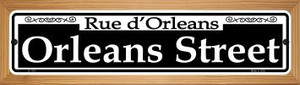 Orleans Street Wholesale Novelty Wood Mounted Small Metal Street Sign WB-K-1107