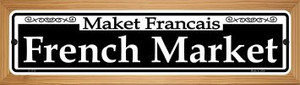 French Market Wholesale Novelty Wood Mounted Small Metal Street Sign WB-K-1110