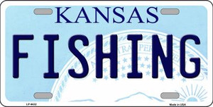 Fishing Kansas Novelty Wholesale Metal License Plate LP-6632