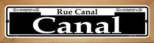 Canal Wholesale Novelty Wood Mounted Small Metal Street Sign WB-K-112