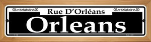 Orleans Wholesale Novelty Wood Mounted Small Metal Street Sign WB-K-1126