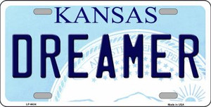 Dreamer Kansas Novelty Wholesale Metal License Plate