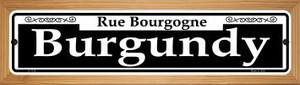 Burgundy Wholesale Novelty Wood Mounted Small Metal Street Sign WB-K-1138