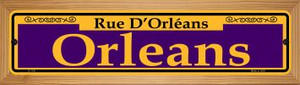 Orleans Purple Wholesale Novelty Wood Mounted Small Metal Street Sign WB-K-1147