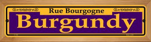 Burgundy Purple Wholesale Novelty Wood Mounted Small Metal Street Sign WB-K-1159