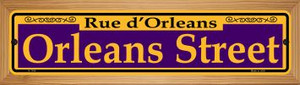 Orleans Street Purple Wholesale Novelty Wood Mounted Small Metal Street Sign WB-K-1164