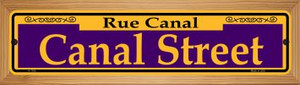 Canal Street Purple Wholesale Novelty Wood Mounted Small Metal Street Sign WB-K-1165