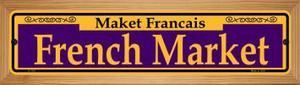 French Market Purple Wholesale Novelty Wood Mounted Small Metal Street Sign WB-K-1167