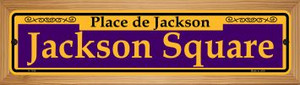 Jackson Square Purple Wholesale Novelty Wood Mounted Small Metal Street Sign WB-K-1168