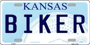Biker Kansas Novelty Wholesale Metal License Plate