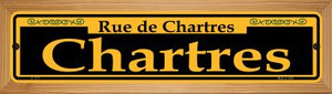 Chartres Yellow Wholesale Novelty Wood Mounted Small Metal Street Sign WB-K-1171