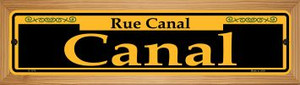 Canal Yellow Wholesale Novelty Wood Mounted Small Metal Street Sign WB-K-1174