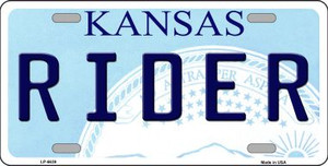 Rider Kansas Novelty Wholesale Metal License Plate