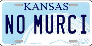 No Murci Kansas Novelty Wholesale Metal License Plate