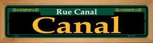 Canal Green Wholesale Novelty Wood Mounted Small Metal Street Sign WB-K-1203