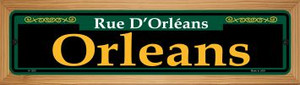 Orleans Green Wholesale Novelty Wood Mounted Small Metal Street Sign WB-K-1205