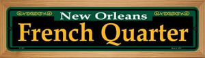 French Quarter Green Wholesale Novelty Wood Mounted Small Metal Street Sign WB-K-1221