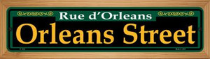 Orleans Street Green Wholesale Novelty Wood Mounted Small Metal Street Sign WB-K-1222