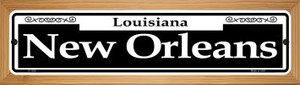 New Orleans Wholesale Novelty Wood Mounted Small Metal Street Sign WB-K-1228