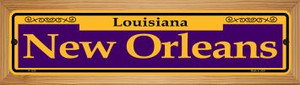 New Orleans Purple Wholesale Novelty Wood Mounted Small Metal Street Sign WB-K-1229