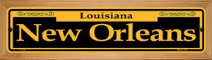 New Orleans Yellow Wholesale Novelty Wood Mounted Small Metal Street Sign WB-K-1230