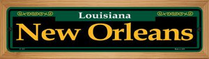 New Orleans Green Wholesale Novelty Wood Mounted Small Metal Street Sign WB-K-1231
