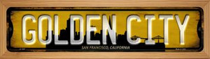 San Francisco California Golden City Wholesale Novelty Wood Mounted Small Metal Street Sign WB-K-1247