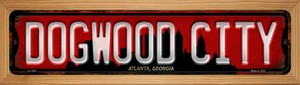 Atlanta Georgia Dogwood City Wholesale Novelty Wood Mounted Small Metal Street Sign WB-K-1249