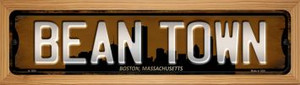 Boston Massachusetts Bean Town Wholesale Novelty Wood Mounted Small Metal Street Sign WB-K-1250