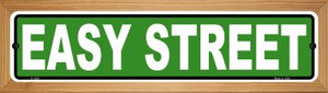 Easy Street Wholesale Novelty Wood Mounted Small Metal Street Sign WB-K-1283