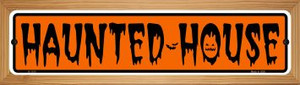 Haunted House Wholesale Novelty Wood Mounted Small Metal Street Sign WB-K-1313
