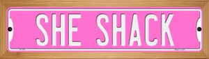 She Shack Wholesale Novelty Wood Mounted Small Metal Street Sign WB-K-1376