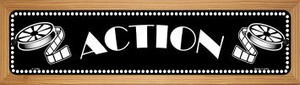 Action Home Theater Wholesale Novelty Wood Mounted Small Metal Street Sign WB-K-1380