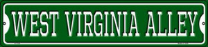 West Virginia Alley Wholesale Novelty Small Metal Street Sign K-1104